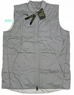 Nike Golf Insulated Reversible Vest Mens Full Zip Grey Warm