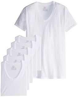 Hanes Men's Red Label Closure 6-Pack V-Neck T-Shirts