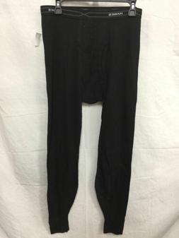 HANES MEN'S  THERMAL LONG JOHN BLACK L- NEW WITHOUT TAG  588