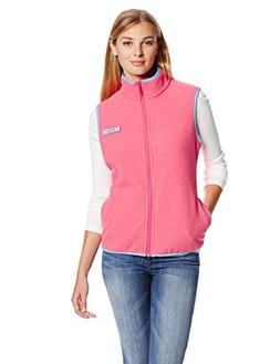 Columbia Women's Harborside Fleece Vest, Tango Pink/Heather,
