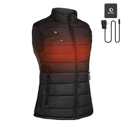 OUTCOOL Women's Heated Vest Lightweight Slim Fit Insulated H