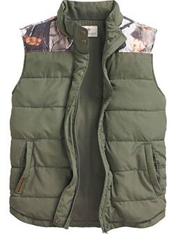Legendary Whitetails Men's Hinterland Quilted Vest Army Larg