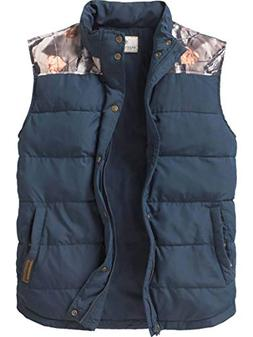 Legendary Whitetails Men's Hinterland Quilted Vest Navy X-La