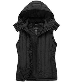 hooded fleece vest thick quilted