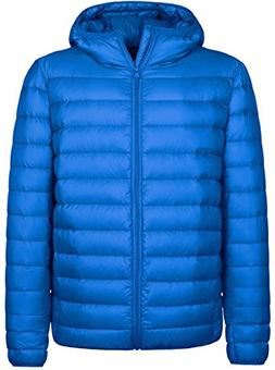 Wantdo Men's Hooded Packable Light Weight Down Jacket Large