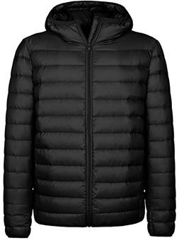 Wantdo Men's Hooded Packable Light Weight Down Jacket X-Larg