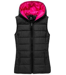 Wantdo Women's Hooded Quilted Padding Vest Lightweight Warm