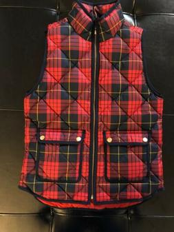 J. Crew Petite Excursion Vest In Tartan, PXS