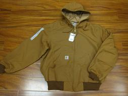 Carhartt J131 Thermal Lined Duck Active Jacket Brown Made in