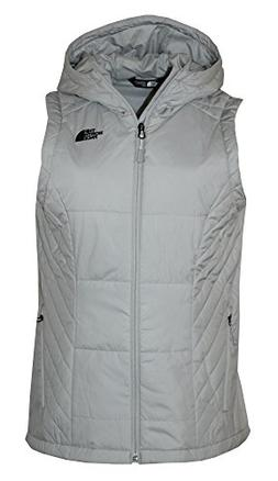 The North Face Womens Jordannha Hooded Vest Lunar Ice Grey