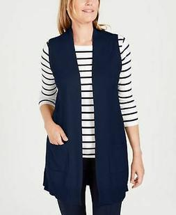 Karen Scott Petite Sweater Vest Intrepid Blue PL21.99