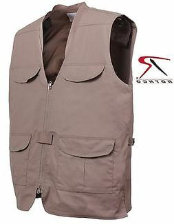 Khaki Lightweight Concealed Carry Vest - Rothco Ambidextrous