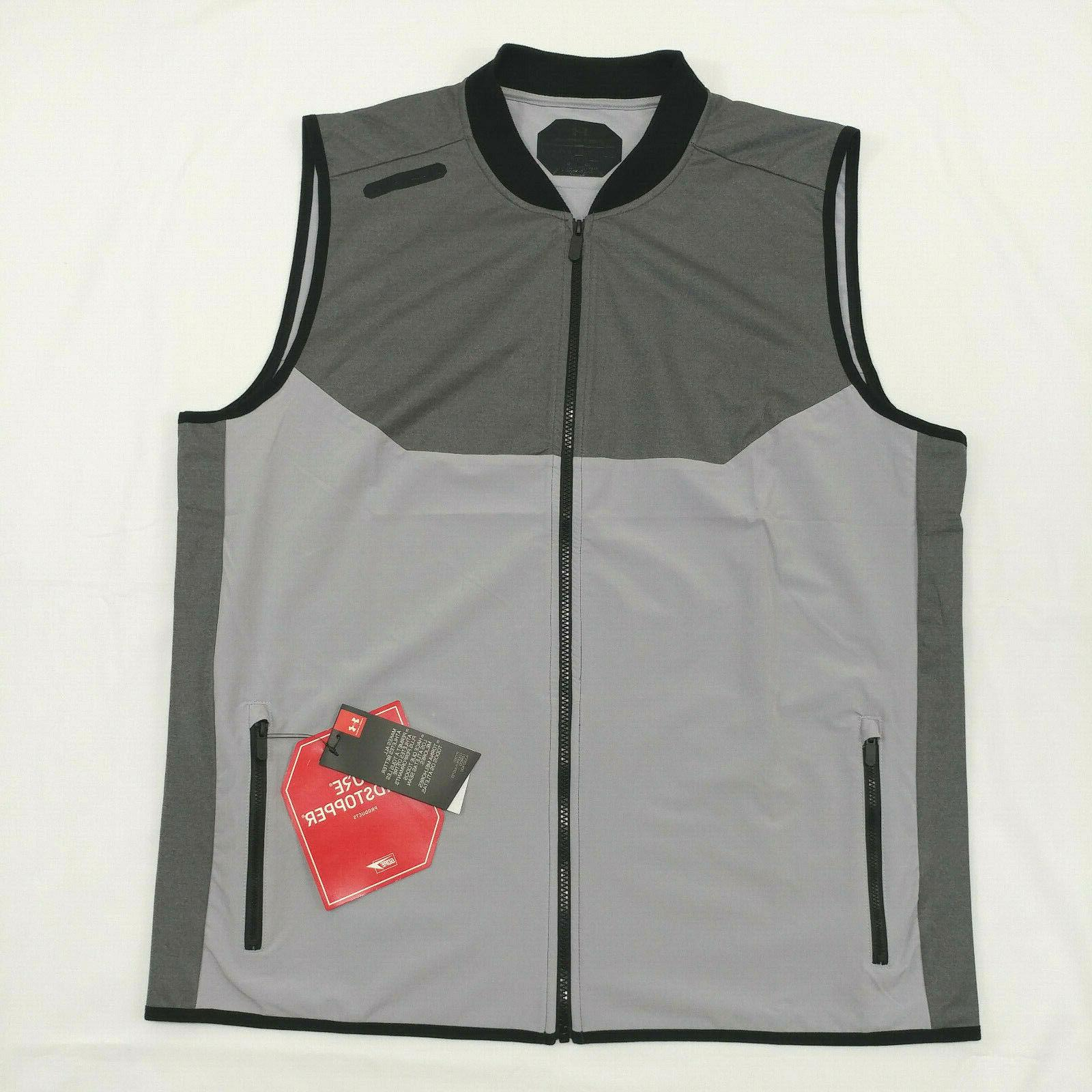 120 men vest full zip size xl