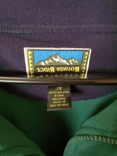 2 Roundy Ridge Clothing Mens Sz XL Polyester Fleece Pullover
