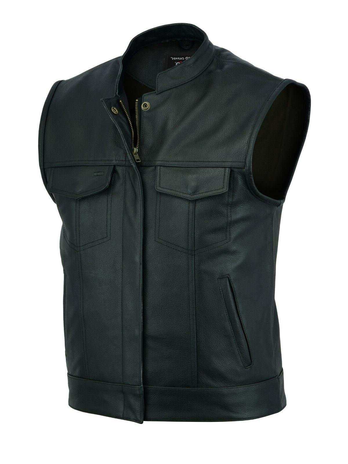2fit soa men s leather vest anarchy
