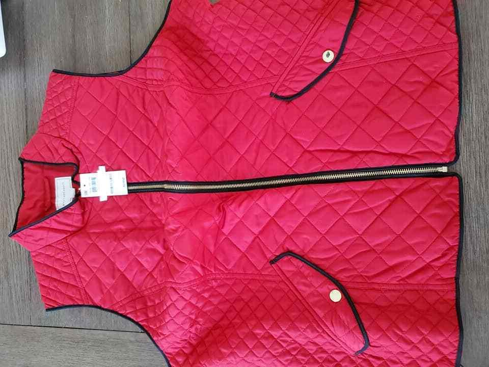 2XL, XL, L Charter Club Quilted Vest Red
