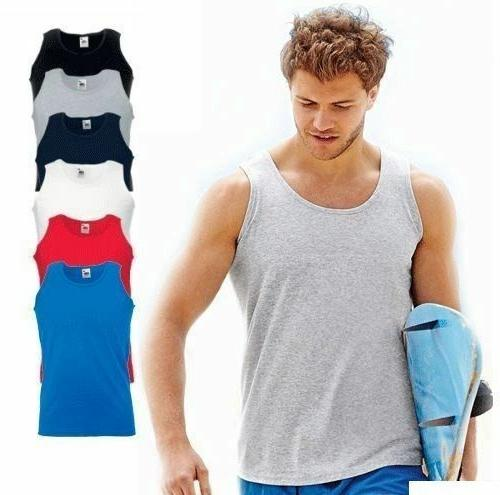 5 Pack Vests Of Loom Athletic Tank Top Gym T Shirt Sports