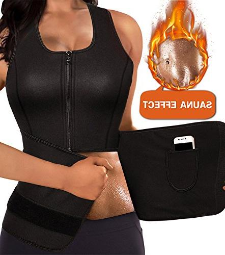 LODAY Women Neoprene Body Shaper Sauna Suit Gym Workout Tank
