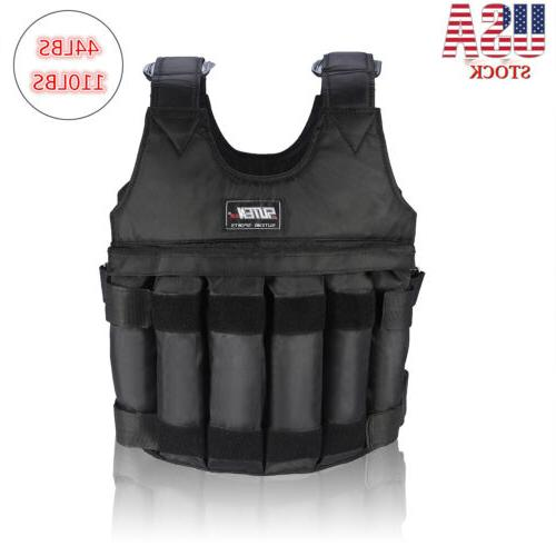 adjustable workout weight 44lb 110lb weighted vest