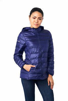 AlpineSwiss Womens Hooded Down Light Coat