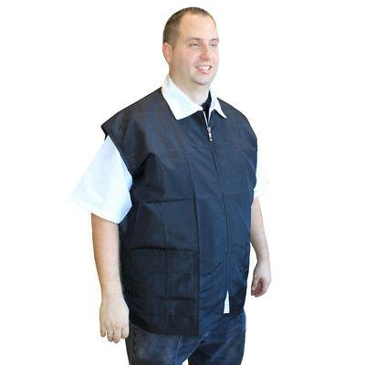 Barber Vest Black, W/ Pockets Reverse NET   New