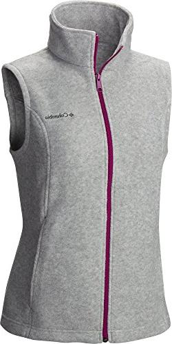 Columbia Women's Plus Size Benton Springs Vest, Light Grey H