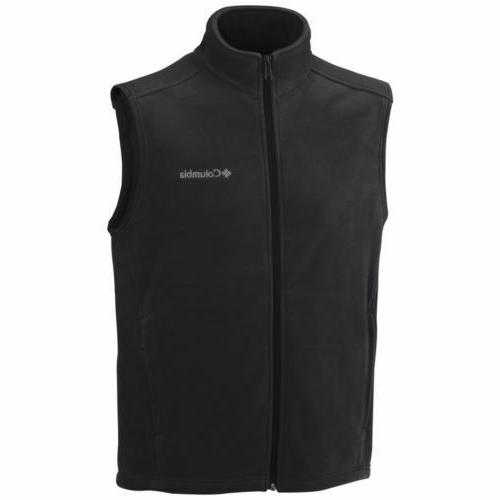 black fleece vest size large men s