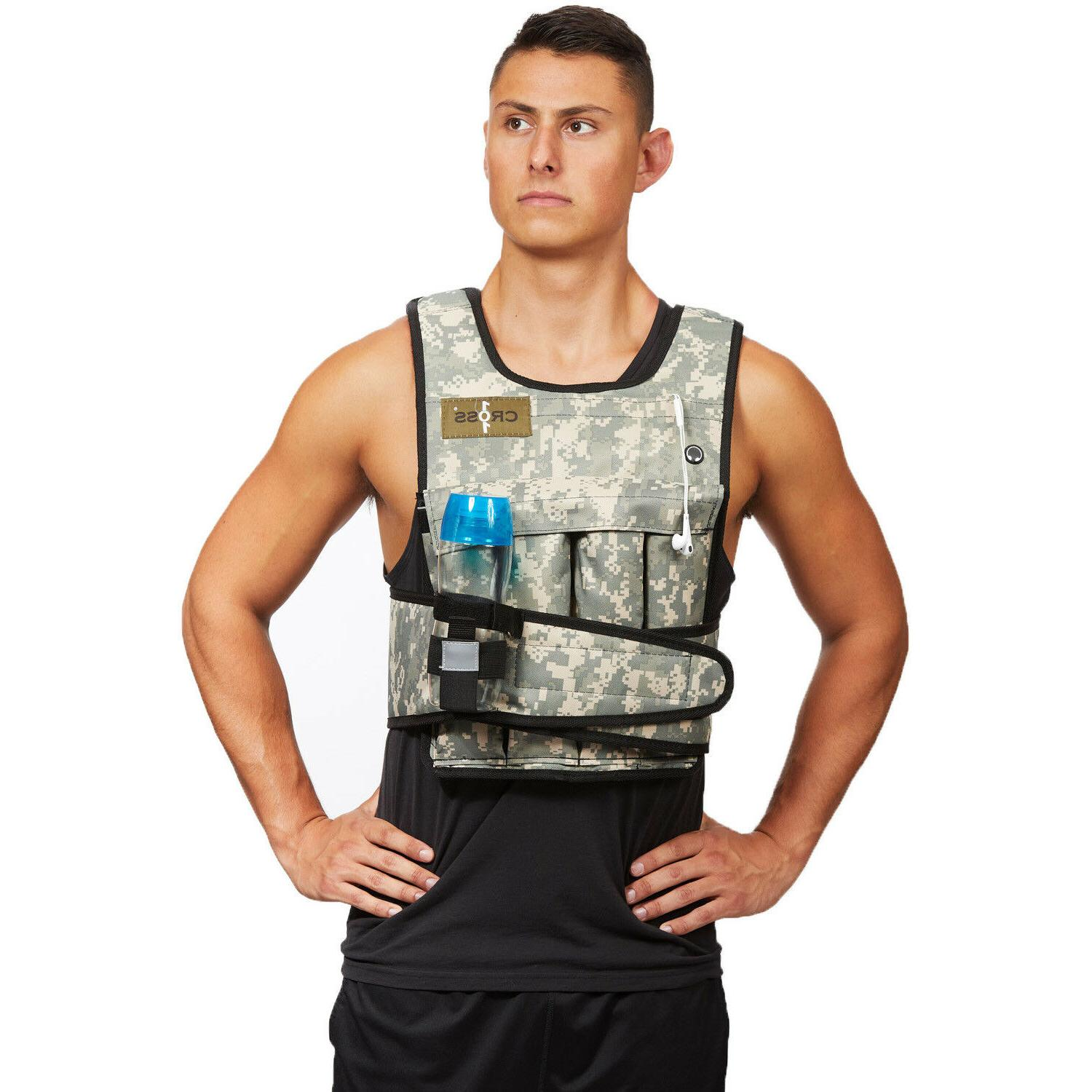 camouflage adjustable weighted weight vest with shoulder