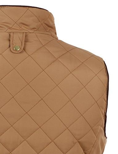 LE3NO Casual Quilted Up Vest with Pockets