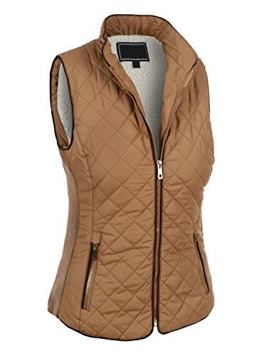 casual lightweight quilted zip puffer