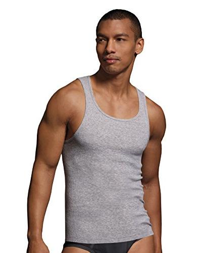 Hanes Comfort Tagless Tanks Black, or Black/Grey M