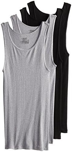 Hanes Comfort Soft Tagless Tanks 4-Pack, Black, Grey, or Bla