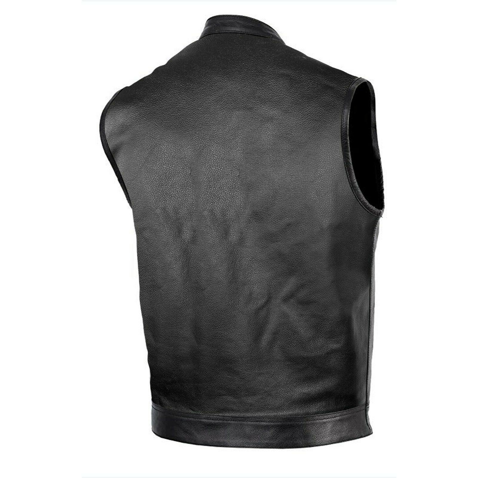 DEFY™ Motorcycle Club Leather Vest Concealed Carry