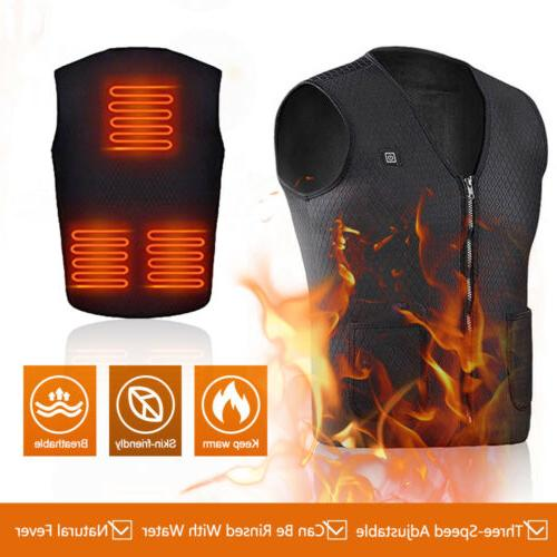 Electric Heated USB Thermal Warm Heating Body Warmer Clothes