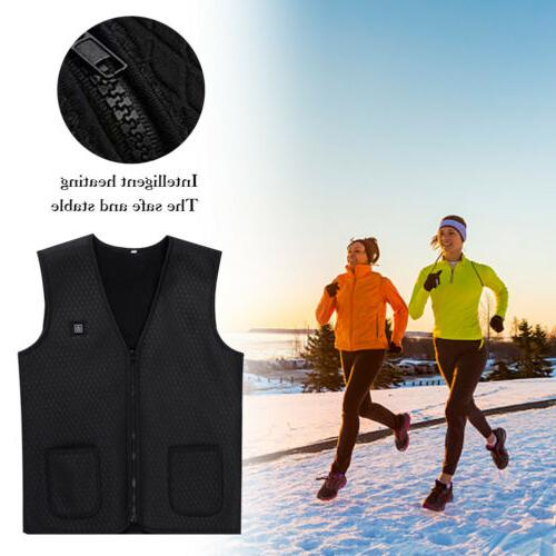 Electric Winter Warm Vest Men Heating Jacket