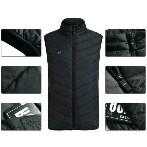 Electric Vest Heated Jacket USB Thermal Pad Winter Body Unisex