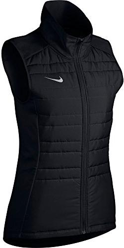 Nike Women's Essential Running Vest Black/Metallic Silver Si