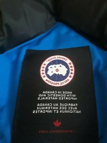 Canada Goose Blue Down Coat Size