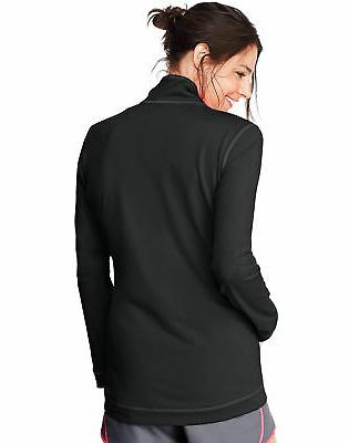 Hanes Fleece Jacket Sport Performance Women's Pockets Cool Dri