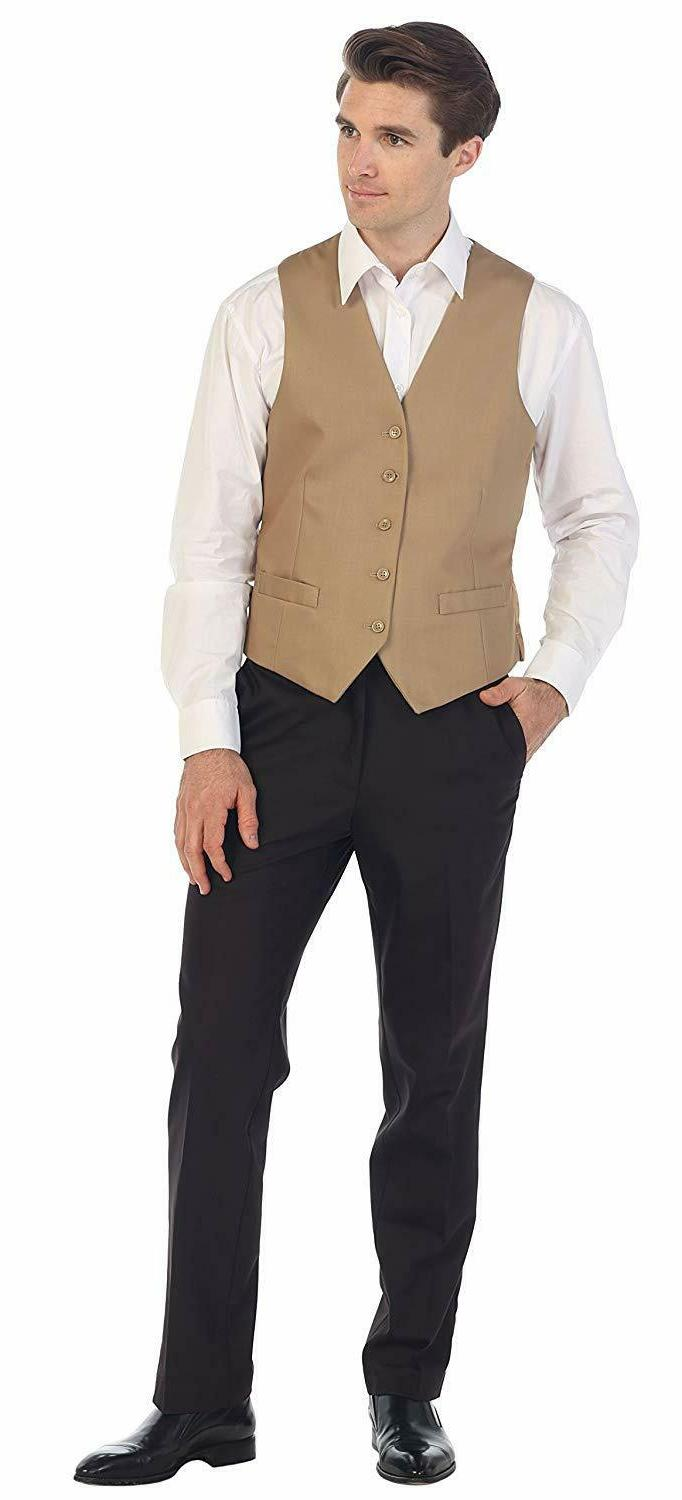 Gioberti Mens 5 Button Formal Suit Vest