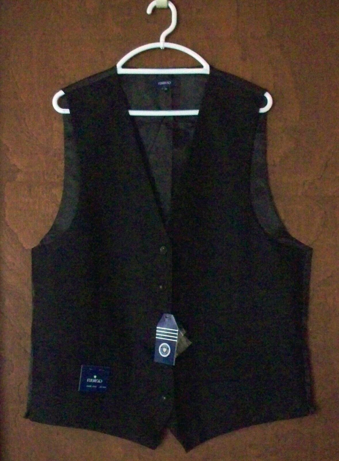 gioberti mens 5 button formal vest black