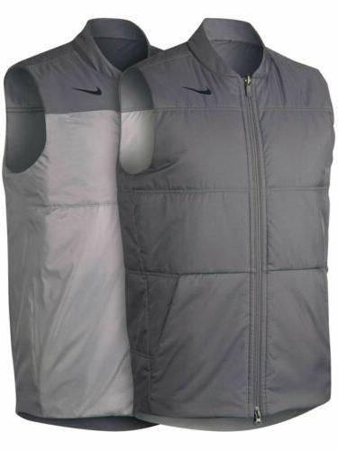 mens synthetic fill core reversible golf vest
