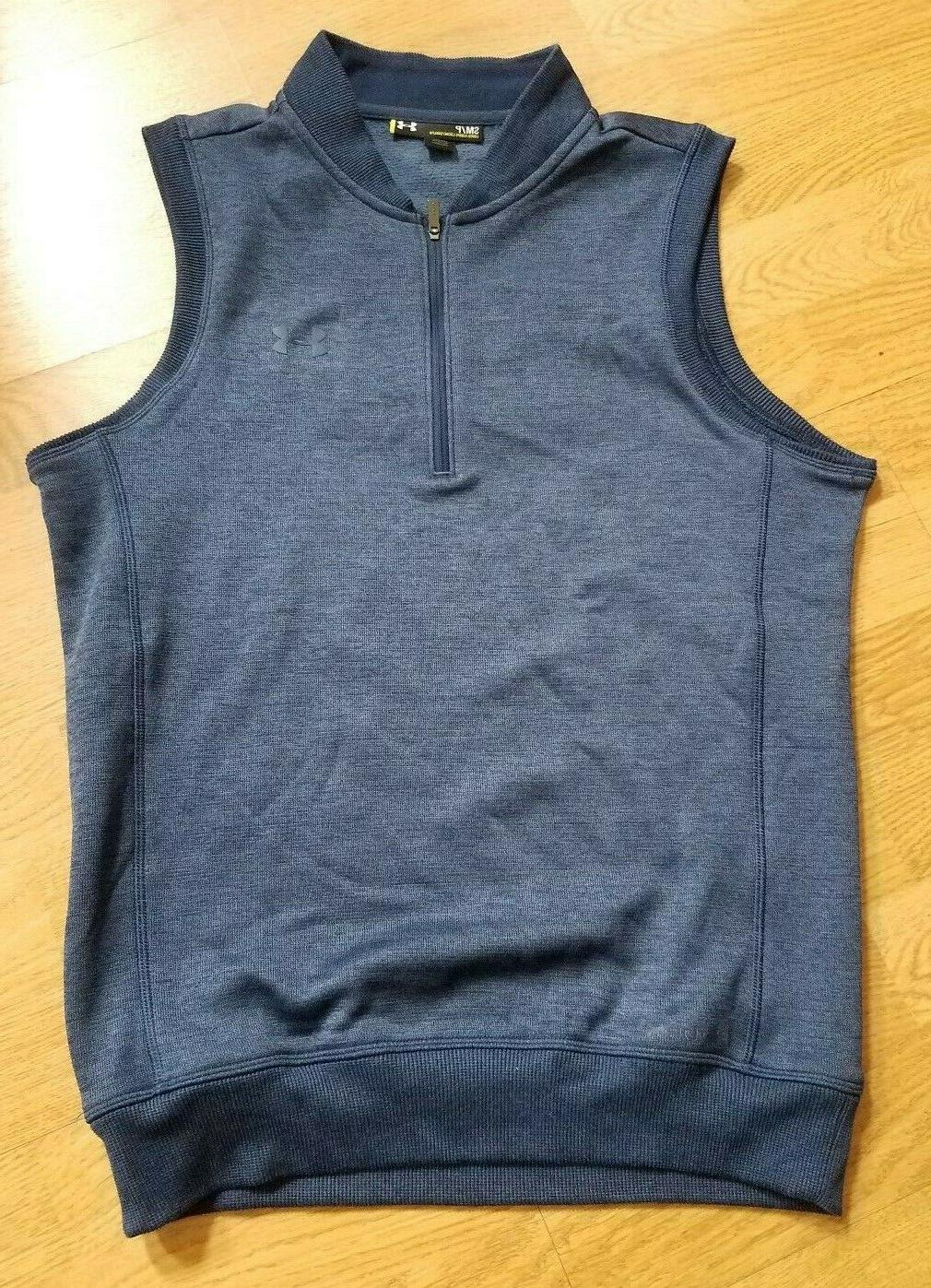 Under Armour GOLF Vest STORM Cold Gear Blue Mens Water Resis