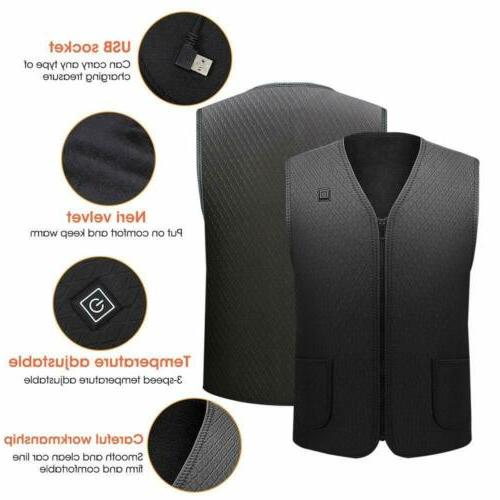 Heated Electric Jacket for Women Men No Battery US