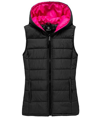 hooded quilted padding vest lightweight