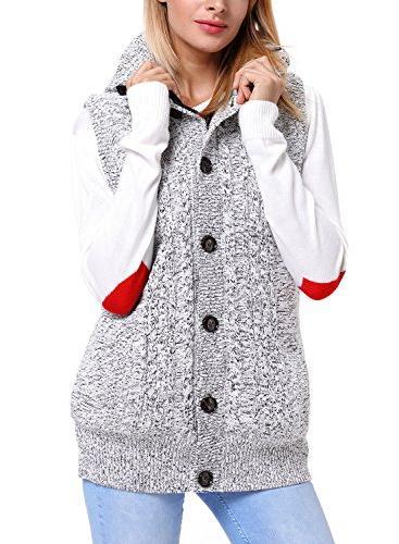 Sidefeel Women Hooded Vest Coat