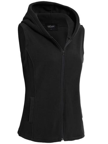 JayJay Women Fleece Sleeveless Hoodie