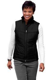 Port Authority L709 Ladies Puffy Vest - Black/Black - XXXX-L