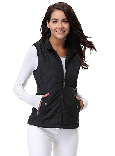 MISS MOLY Zip up Stand Collar Warm Gilets Puffer 2 Pockets
