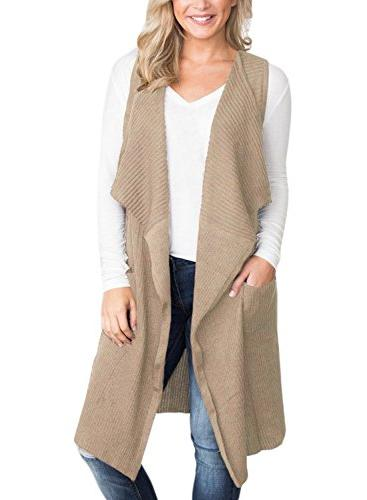long cardigans open front sleeveless